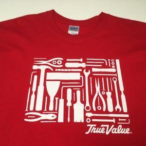 28125ba31e1 Gildan Shirts - True Value Hardware Red Shirt Tools New (Large)